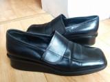 Pantofi din piele firma BALLY marimea 38,sunt noi!, Negru, Cu talpa joasa