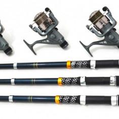 Set 3 Lansete 3M Cu Mulinete Si Fir CADOU - Set pescuit