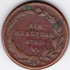 Austria 1 EIN KREUTZER 1780 W kreuzer, Maria Theresia, Europa