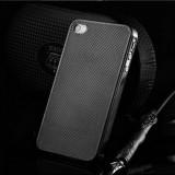 Husa/toc protectie iPhone 4, 4s 100% aluminiu perforat, 0.3 mm, nu piele, negru