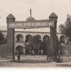 MILITARA CRAIOVA SCOALA PREGATITOARE OFITERI REZERVA ARTILERIE CIRC. NOV.*932 - Carte Postala Oltenia dupa 1918, Circulata, Fotografie