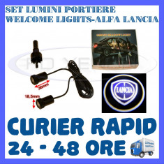 SET 2 x LUMINI LOGO LASER LANCIA GENERATIA 6 (12V, CAMION 24V) - LED CREE 7W - Logo Marca ZDM