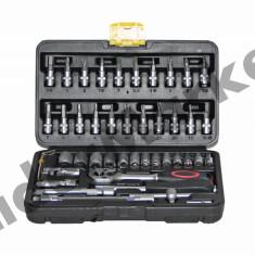 Trusa de tubulare D-Tools 46 piese Chrome Vanadium - Trusa scule auto