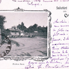SALUTARI DIN CRAIOVA, FANTANA JIANU, CLASICA, TCV, CIRCULATA MAR. ''900 - Carte Postala Oltenia pana la 1904, Printata