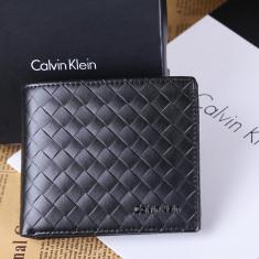 Portofel Calvin Klein M3 ORIGINAL piele FULL-GRAIN barbat import CK USA +CADOU! - Portofel Barbati Calvin Klein, Negru, Cu fermoar