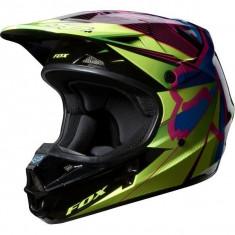 Casca-Fox Racing V1 Radeon Green MX-NOUA Masura L - Casca moto, Marime: L, Enduro