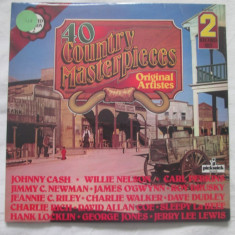 Various ‎– 40 Country Masterpieces _ vinyl(dublu LP) UK - Muzica Country Altele, VINIL