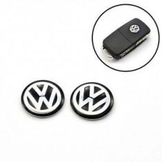 Emblema logo sigla cheie Vw neagra - Embleme auto