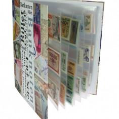 SAFE- banknoten album avec 20 foi pentru 160 banknote - album clasor