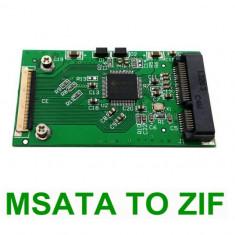 Adaptor convertor mSATA la ZIF / CE 40pin pentru SSD Mini PCI-e - Adaptor interfata PC