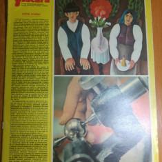 Revista flacara 26 aprilie 1975-articol despre fabica de rulmenti brasov
