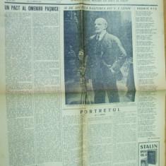 Flacara 19 aprilie 1951 81 ani nastere Lenin benzi desenate Nell Cobar - Ziar