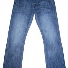 Blugi DENIM CO. - (MARIME: 34 x 32) - Talie = 91 CM, Lungime = 108 CM - Blugi barbati, Culoare: Albastru, Prespalat, Drepti, Normal