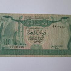 RARA! BANCNOTA 1 DINAR 1981 LIBIA - bancnota africa