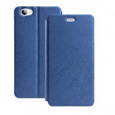 HUSA FLIP COVER STAND BIROU ALLVIEW X3 SOUL mini, Alt model telefon Allview, Albastru, Alt material