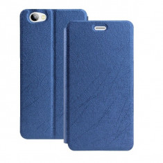 HUSA FLIP COVER STAND BIROU ALLVIEW X3 SOUL mini - Husa Telefon Allview, Albastru, Cu clapeta