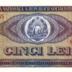 ROMANIA 5 LEI 1966 STARE NECIRCULATA - Bancnota romaneasca
