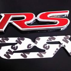 Emblema pentru masina auto pentru RS audi metal adeziv inclus - Embleme auto