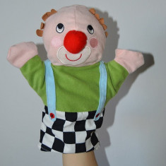 Marioneta teatru de papusi, papusa manuala clovn claun arlechin bufon clown - Jucarii plus