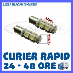 BEC AUTO LED LEDURI POZITIE BA9S BAX9S BAY9S - 9 SMD - POZITII PLAFONIERA NUMAR - Led auto ZDM, Universal