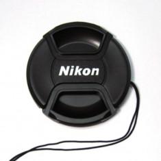 Capac 52mm pentru obiective Nikon cu snur de prindere. - Capac Obiectiv Foto