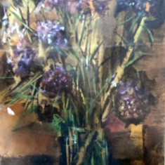Sorin Ionescu, Vaza cu flori - Pictor roman