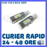 BEC AUTO LED LEDURI POZITIE T10 W5W - 30W CREE HIGH POWER - POZITII, NUMAR