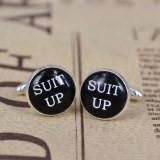 Butoni pentru camasa cu text personalizat + cutie simpla cadou