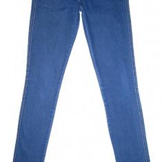 Blugi Conici H&M - (MARIME: 28 x 34) - Talie = 84 CM, Lungime = 107 CM - Blugi barbati H&M, Culoare: Albastru, Prespalat, Skinny, Normal