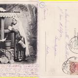 Port Popular National- tipuri-clasica - Carte Postala Moldova pana la 1904, Circulata, Printata