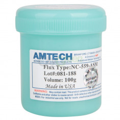 Pasta Flux Amtech NC-559-ASM Made USA holograma AMTECH 100gr reballing