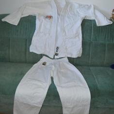 Kimono Karate /judo, KNOW Club Line, bumbac, marime 2/160 + centura galbena