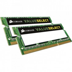 Memorie notebook Corsair ValueSelect, 8GB, DDR3, 1066MHz, CL7, 1.5v, Dual Channel Kit