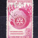 "Timbre AUSTRALIA 1955 = A 50-a ANIV. ""ROTARY"" INTERNATIONAL - Timbre straine, Stampilat"