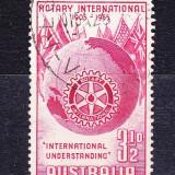 "Timbre AUSTRALIA 1955 = A 50-a ANIV. ""ROTARY"" INTERNATIONAL - Timbre straine, Stampilat"