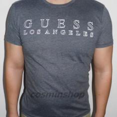 Tricouri GUESS Los Angeles - Noua Colectie !!! - Tricou barbati, Marime: S, M, L, XL, Culoare: Gri, Maneca scurta, Bumbac