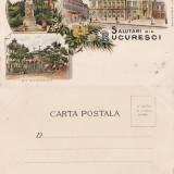 Salutari din Bucuresti - litografie cca 1898