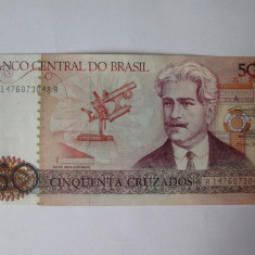 BRAZILIA 50 CRUZADOS 1986-1988 UNC - bancnota america