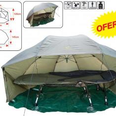 Cort Baracuda tip umbrela Model T3 Pret Excelent Carp Generation Tent