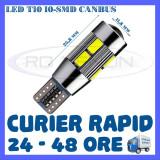 BEC AUTO LED LEDURI POZITIE T10 W5W - 10 SMD 5730 CANBUS FARA EROARE - POZITII, Universal, ZDM