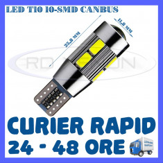 BEC AUTO LED LEDURI POZITIE T10 W5W - 10 SMD 5730 CANBUS FARA EROARE - POZITII