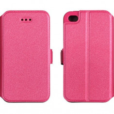 Husa LG K4 K130 Flip Case Inchidere Magnetica Roz - Husa Telefon LG, Cu clapeta, Toc