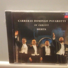CARRERAS/DOMINGO/PAVAROTTI in CONCERT (1990/DECCA REC/GERMANY ) - CD NOU/SIGILAT - Muzica Opera universal records