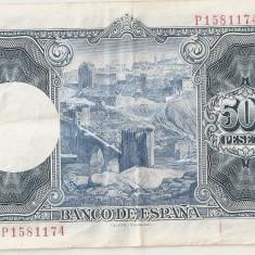 SPANIA 500 PESETAS 1954 XF - bancnota europa