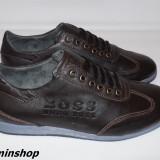 Pantofi HUGO BOSS 100% Piele Naturala - Maro / Negru - Noua Colectie !!!