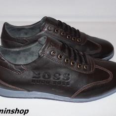 Pantofi HUGO BOSS 100% Piele Naturala - Maro / Negru - Noua Colectie !!! - Pantof barbat Hugo Boss, Marime: 40, 41, 44