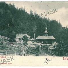46 - Neamt, Schitul SIHLA - old postcard - used - 1906 - Carte Postala Moldova 1904-1918, Circulata, Printata