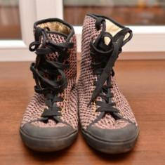 Tenisi Pantofi Sport Roz, textil, marime 39 - Tenisi dama, Culoare: Negru