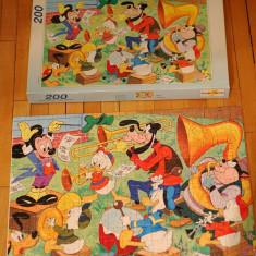 Puzzle 200 piese cu imagine Disney Mikey Donald Guffy Pluto, 39x28.5cm, Italia