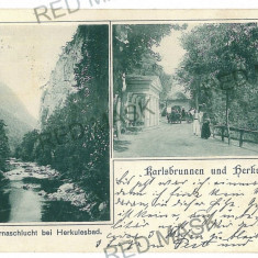 426 - Litho, Caras-Severin, HERCULANE - old postcard - used - 1899 - Carte Postala Banat pana la 1904, Circulata, Printata
